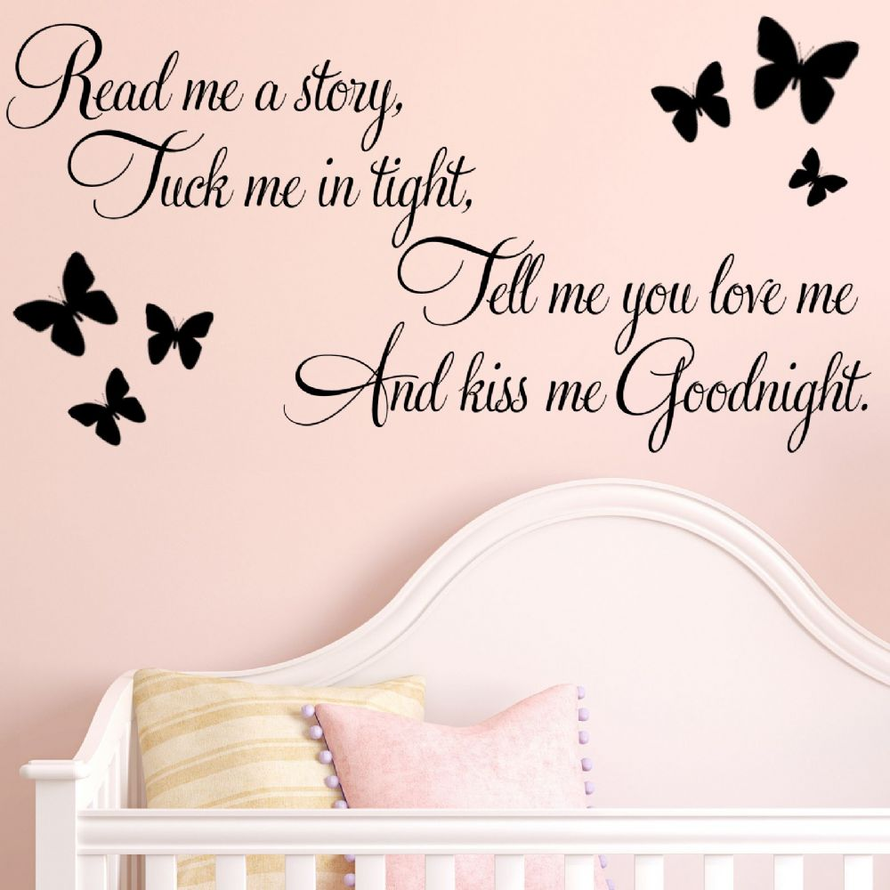Little Baby Girl Wallpaper Ideas Read Me A Story Baby Nursery Childrens Wall Sticker Decals